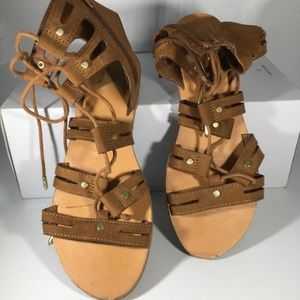 DV ( Dolce Vita) Leather Lace Up Sandals (0717)